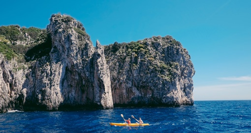 Experience Kayaking off Capri during your next Italy vacations.