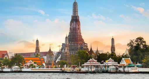 Visit Wat Arun, the Temple of Dawn in Bangkok as part of your Thailand Vacation