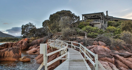 The Exterior of Freycinet Lodge