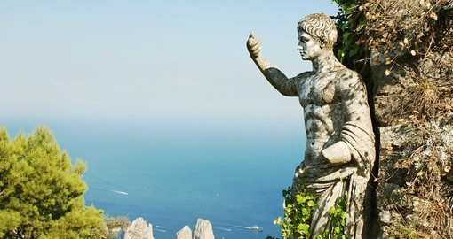 Explore the ruins on Capri island, Italy