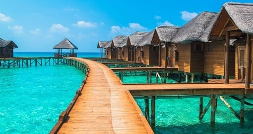 Overwater bungalows is a great choice of accommodation on all Tahiti vacations