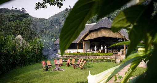 Contemporary yet classic in style Gorilla Forest Camp is ecologically respectful to the mountain landscape