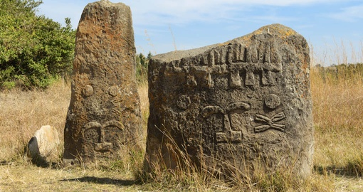 Discover archaeological site of Tiya on your next trip to Ethiopia.