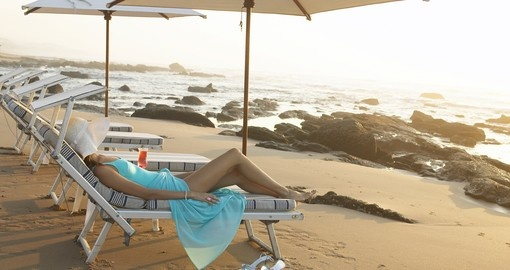 Walk or just lay down on the beach during your next South Africa vacations.