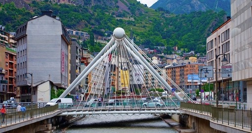 The bridge over Gran Valira River is a popular photo opportunity on all Andorra vacations.