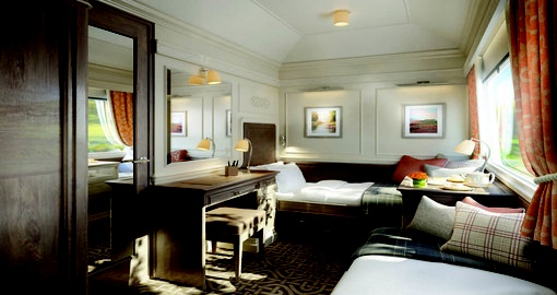 Enjoy all the amenities The Belmond Grand Hibernian may offer.