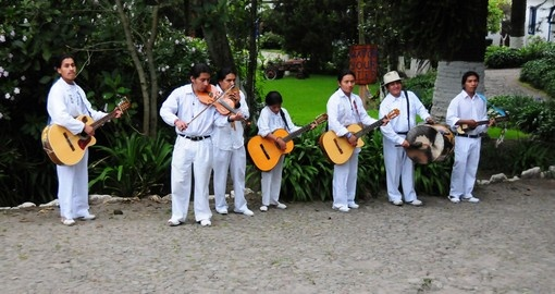 Local Ecuadorian musicians welcome you