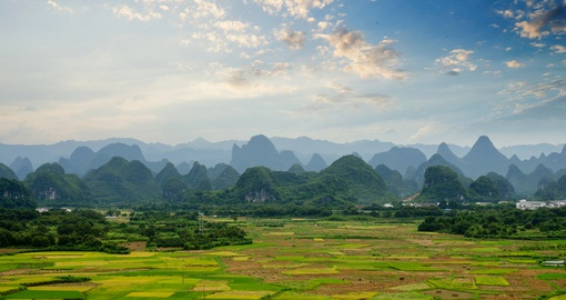 Enjoy the beautiful countryside near Guilin on your China Vacation