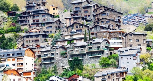 Residence houses on Pyrenees Mountain