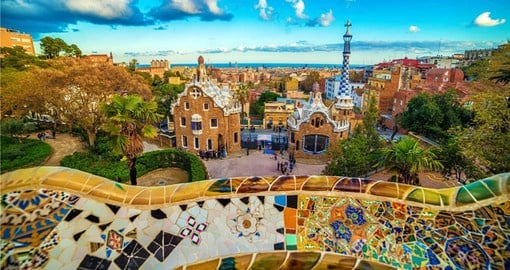 Experience the Park Guell of Antoni Gaudi, Barcelona on your holiday in Spain