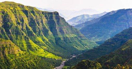 Take a look at breathtaking valley among the mountains in Ethiopia.