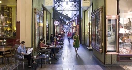 Visit some of the many shopping laneways in Melbourne during your Trips to Australia.