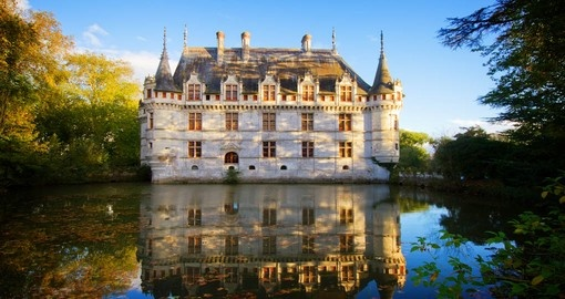 Azay le Rideau, castle in the Loire Valley