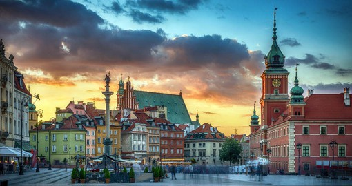 The Old Town Square is the oldest and one of the most charming in Warsaw