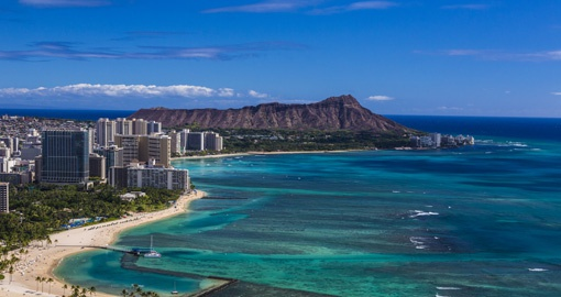 Iconic shot of Waikiki and Leihi, Image courtesy of Hawaii Tourism Authority and Tor Johnson