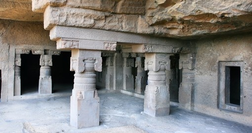 Inside the ancient Ellora Cave