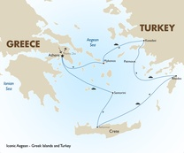 Iconic Aegean - Greek Islands and Turkey Map 1415