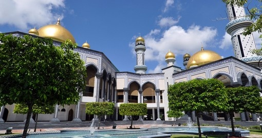 Jameasr Hassanil Bolkiah mosque is a must inclusion when booking Brunei tours.