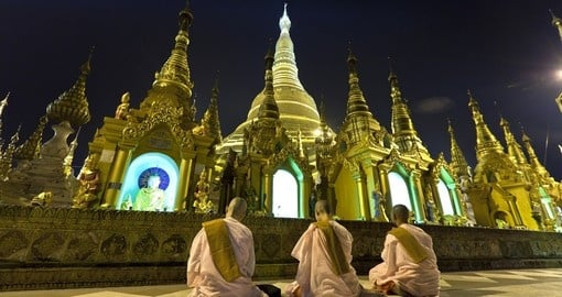 Shwedagon the most sacred Buddhist pagoda for the Burmese