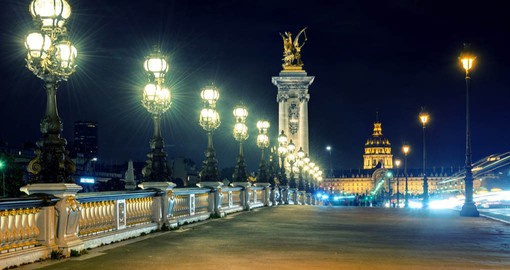 Pont Alexandre III is Paris's most elegant bridges, considered one of the most beautiful river crossings in the world