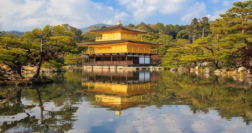 Walk along the water and visit the magnificent Golden Pavilion on one of your Japan Tours