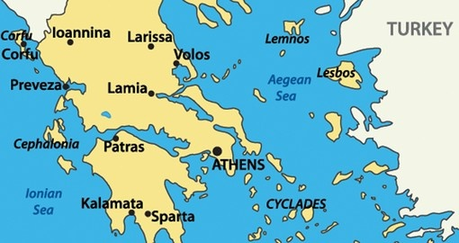 Greece | Geography & Maps | Goway on map of ephesus, map of macedonia, map of aegean sea, map of troy, map of corinth, map of middle east, map of ireland, map of mount olympus, map of mongolia, map of mediterranean, map mediterranean region, map of europe, map of united states, map of santorini, map of africa, map of judea, map of european countries, map of athens, map of the west indies, map of india,