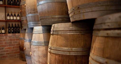 Barrels of wine waiting to be sampled is always a popular activity while on South African tours.