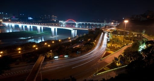 Spectacular night views of Chongqing and the Yangtze River can be seen when booking one of our China tours.