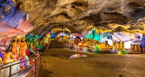 Walk through the ancient Batu Cave system which is decorated with magnificent artwork and statues on one of your Malaysia Tours