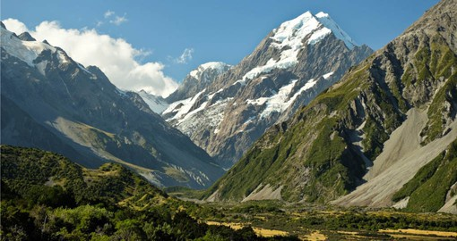Mt. Cook National Park in the heart of the Southern Alps