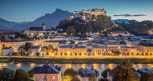 Salzburg with Hohensalzburg fortress is a must inclusion on all Austria vacations.
