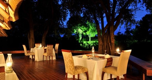 Enjoy delicious meals at Imbali Safari Lodge during your South Africa trip.