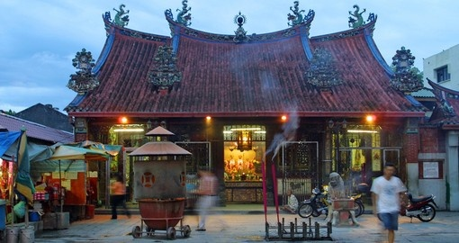 A chinese temple in Georgetown on Penang Island - a great photo opportunity while on one of our Malaysia tours.