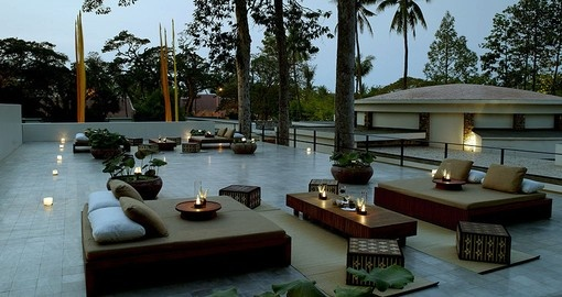 Lounge on the gorgeous rooftop terrace on your Cambodia Vacation