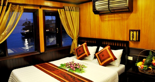 Enjoy the comfortable cabins on board
