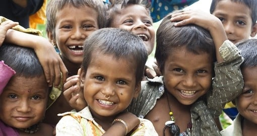 Smiling faces of kids