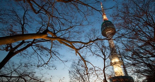 Seoul Tower at twilight