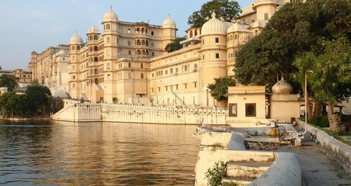 Explore the city Palace in Udaipur during your next holidays in India.