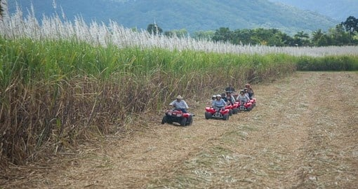 Explore North Queensland with Blazing Saddles' ATV bike riding adventure during your Trips to Australia.
