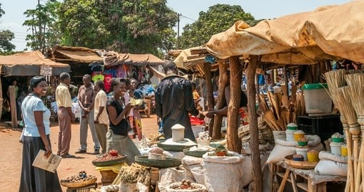 People at the market in Livingstone City