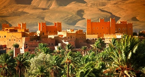 Moroccan kasbah in Atlas Mountains