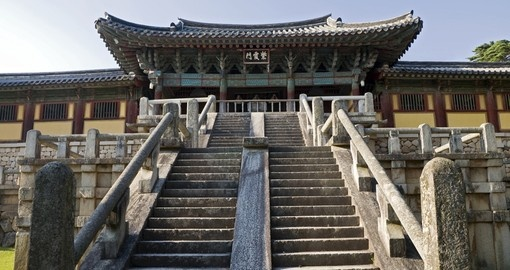 Entrance to the Bulguksa Temple in South Korea
