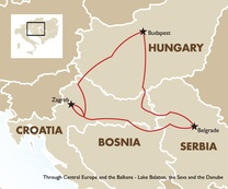 Through Central Europe and the Balkans - Lake Balaton, the Sava and the Danube