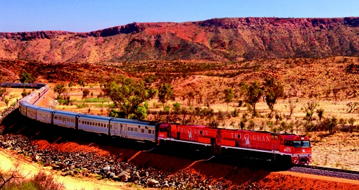 The Ghan in the Outback