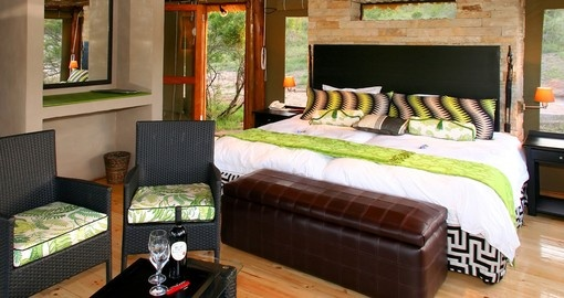 Bedroom at Shamwari Bayethe Tented Lodge