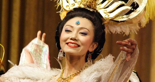 Dancer performs traditional Tang Dynasty dance