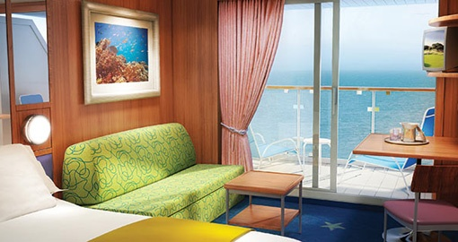 Balcony Stateroom on the Norwegian Star.