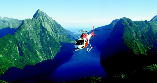 Enjoy spectacular views of Milford Sound and Mitre Peak