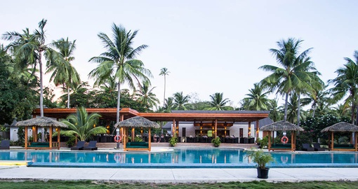 Relax by the pool on your trip to Fiji