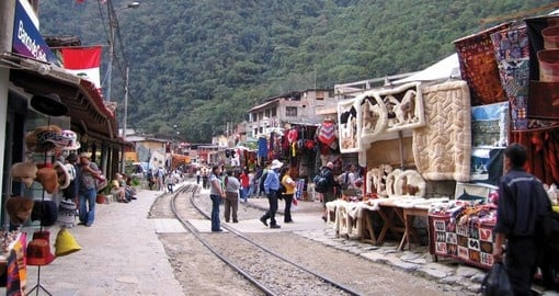 Aguas Calientes near Machu Picchu - shop in interesting markets